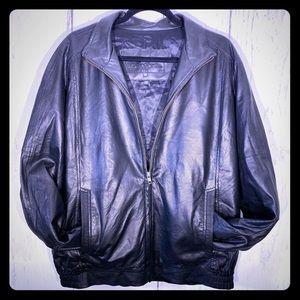 St Croix Shop SOFT Black Leather Jacket Bomber USA